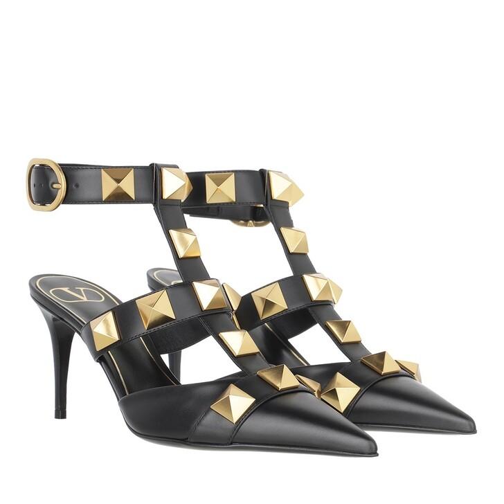 Schuh, Valentino Garavani, Roman Stud Ankle Strap Sandals Black