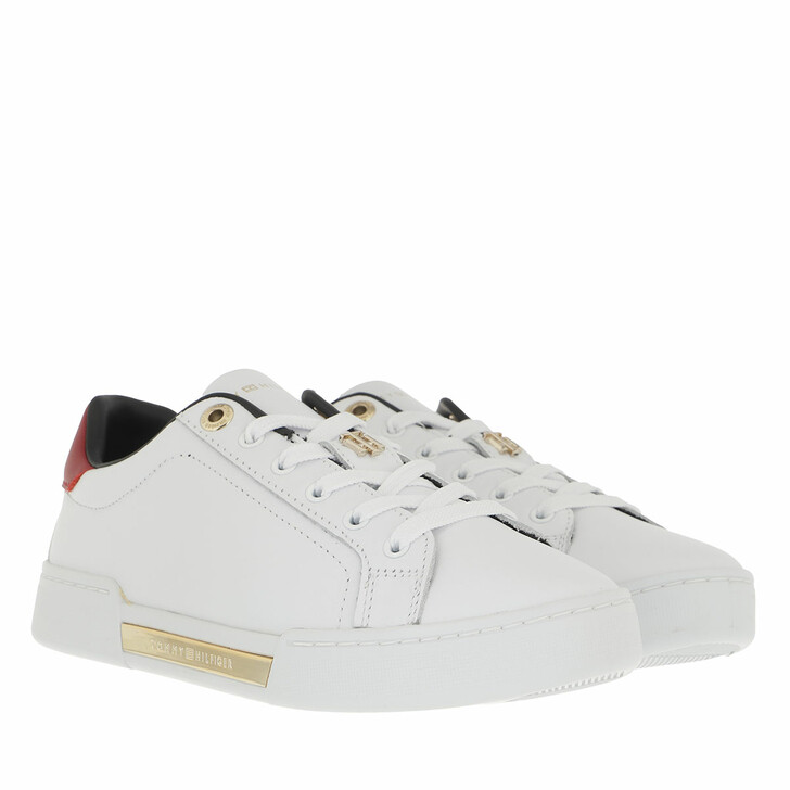 shoes, Tommy Hilfiger, TH Hardware Elevated Sneaker White