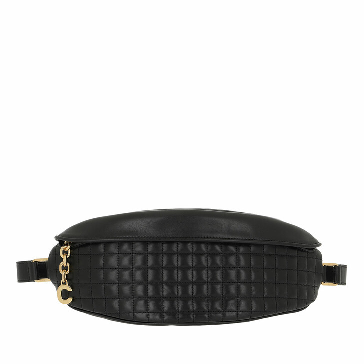Gürteltasche, Celine, C Charm Belt Bag Quilted Leather Black