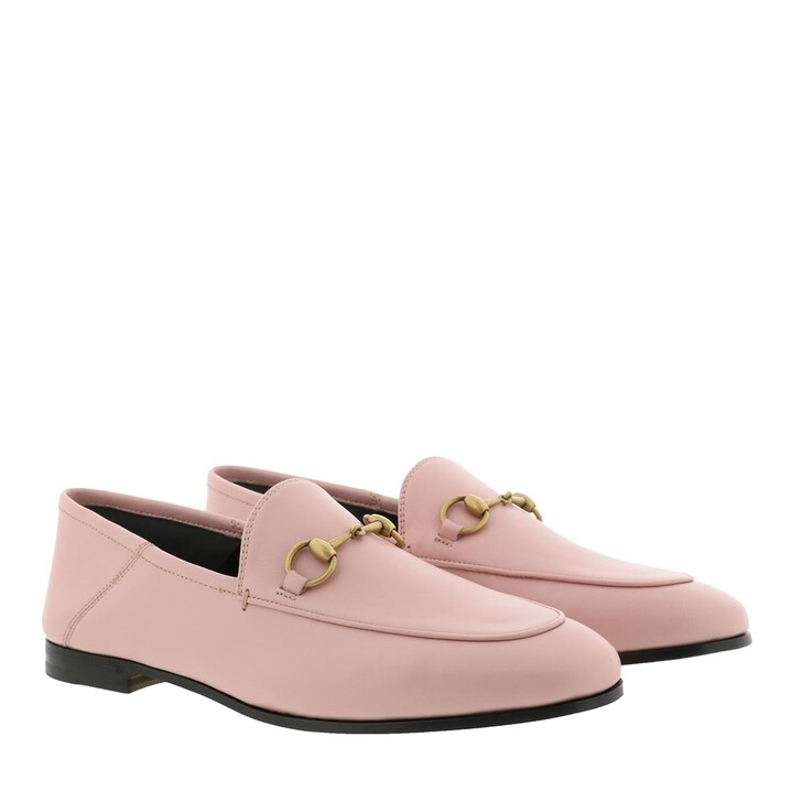 Schuh, Gucci, Brixton Horsebit Loafer Leather Perfect Pink