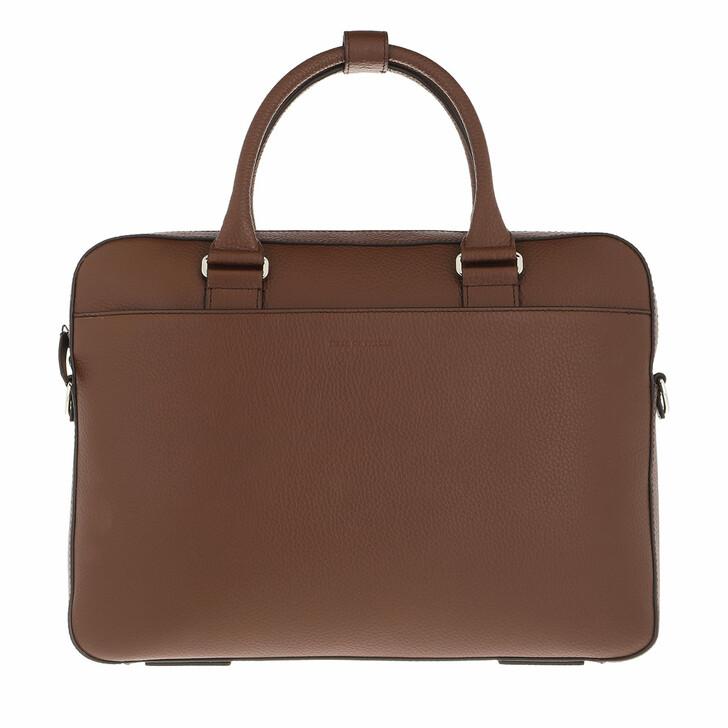 bags, Tiger of Sweden, Medium Leather Travel Bag Cognac