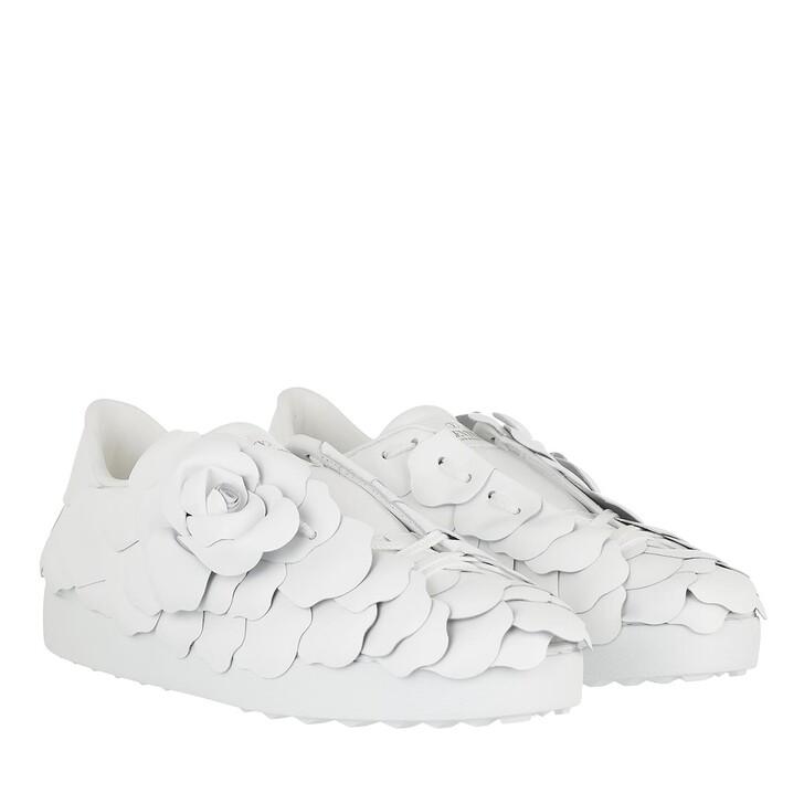 Schuh, Valentino Garavani, Rose Sneakers Leather White