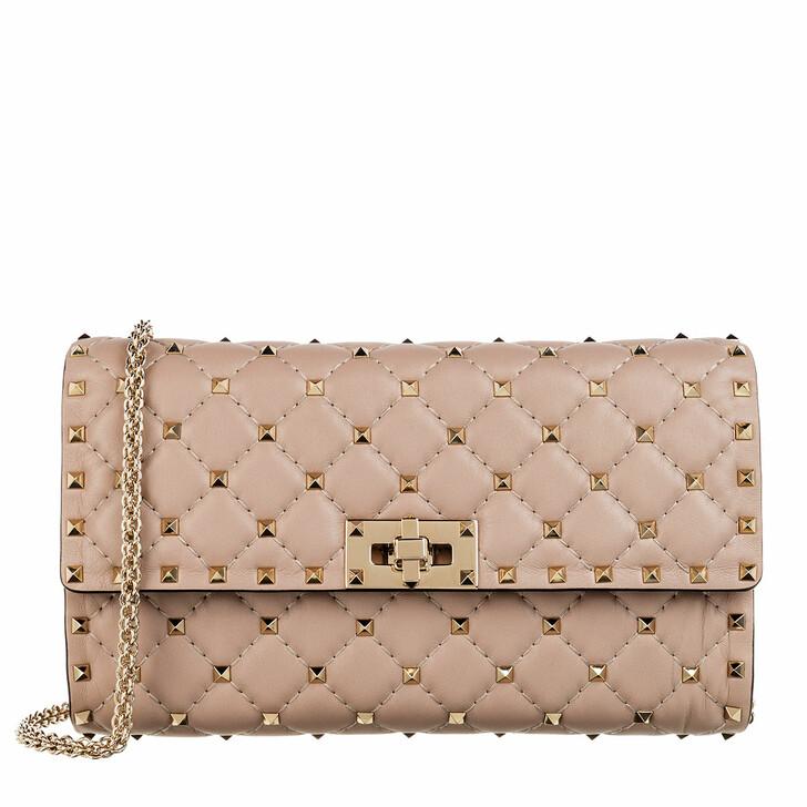 Handtasche, Valentino, Rockstud Spike Shoulder Bag Poudre