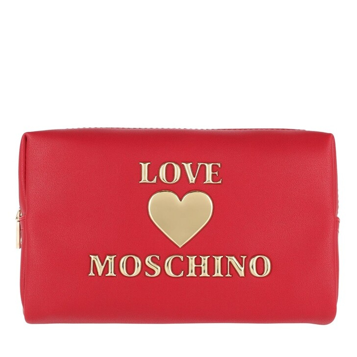 Necessaire, Love Moschino, Makeup Bag PU Rosso