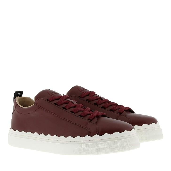shoes, Chloé, Lauren Sneaker Smooth Calfskin Burnt Purple