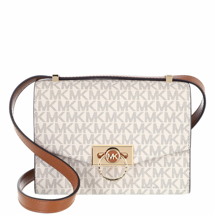 bags, MICHAEL Michael Kors, Extra Small Conv Xbody Vanilla/Acorn