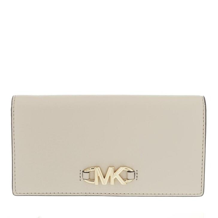wallets, MICHAEL Michael Kors, Izzy Large Slim Wallet Light Sand