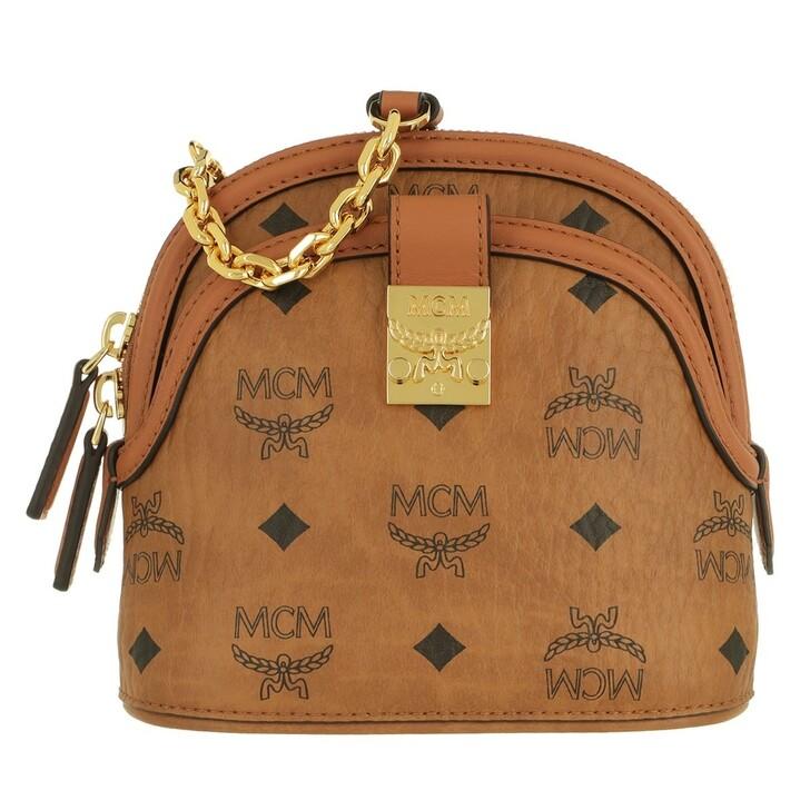 Handtasche, MCM, Anna Visetos Crossbody Mini  Cognac