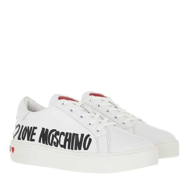 shoes, Love Moschino, Sneakerd Cassetta35 Vitello  Bianco