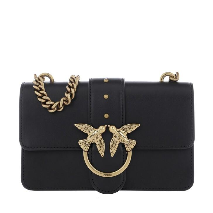 Handtasche, Pinko, Love Mini Icon Simply Crossbody Black