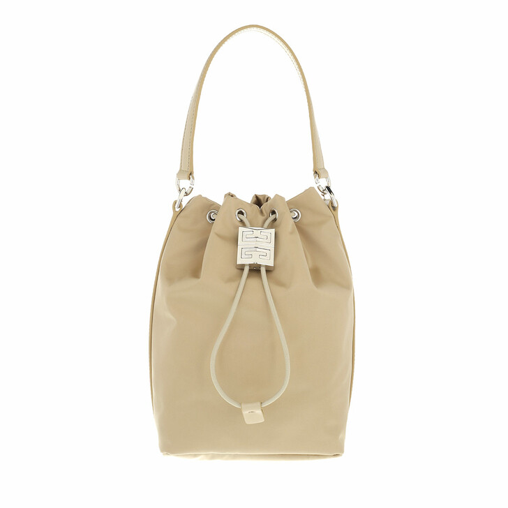 bags, Givenchy, 4G Light Bucket Bag Nylon Beige Cappuccino