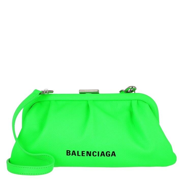 Handtasche, Balenciaga, Cloud XS Clutch With Strap Fluo Green
