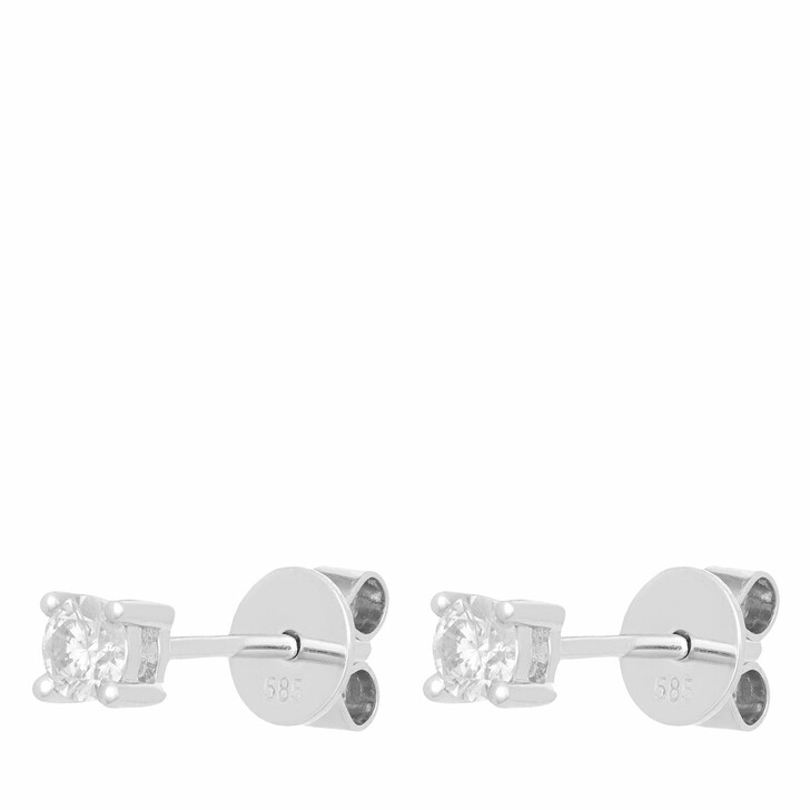 earrings, VOLARE, Earring Studs 2 Brill ca. 0,25 White Gold