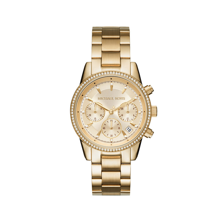 Uhr, Michael Kors, MK6356 Ladies Ritz Watch Gold-Tone