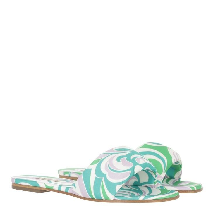 shoes, Emilio Pucci, Albizia Baby Mules Verde/Smeraldo