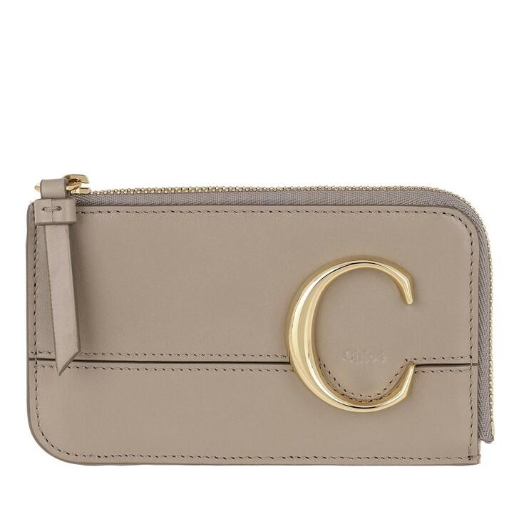 Geldbörse, Chloé, C Small Purse Motty Grey