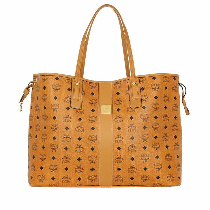 Handtasche, MCM, Project Visetos Reversible Shopper Large Cognac