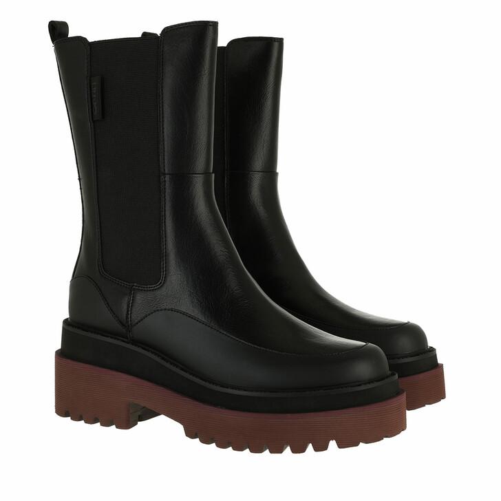 shoes, LIU JO, Purple 10  Bootie Black
