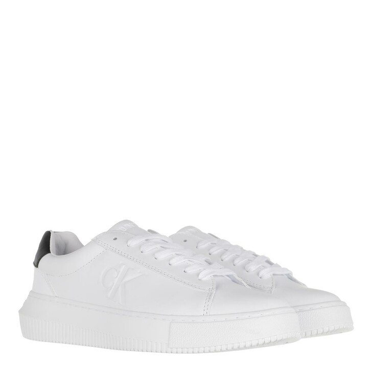Schuh, Calvin Klein, Chunky Sole Sneakers Leather White
