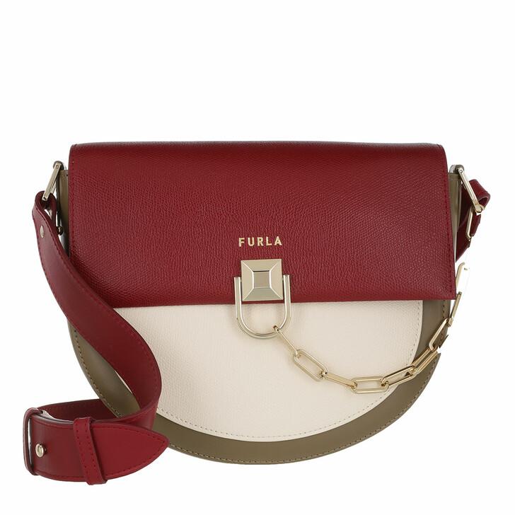 Handtasche, Furla, Furla Miss Mimi' S Crossbody Ciliegia+Pergamena+Fango
