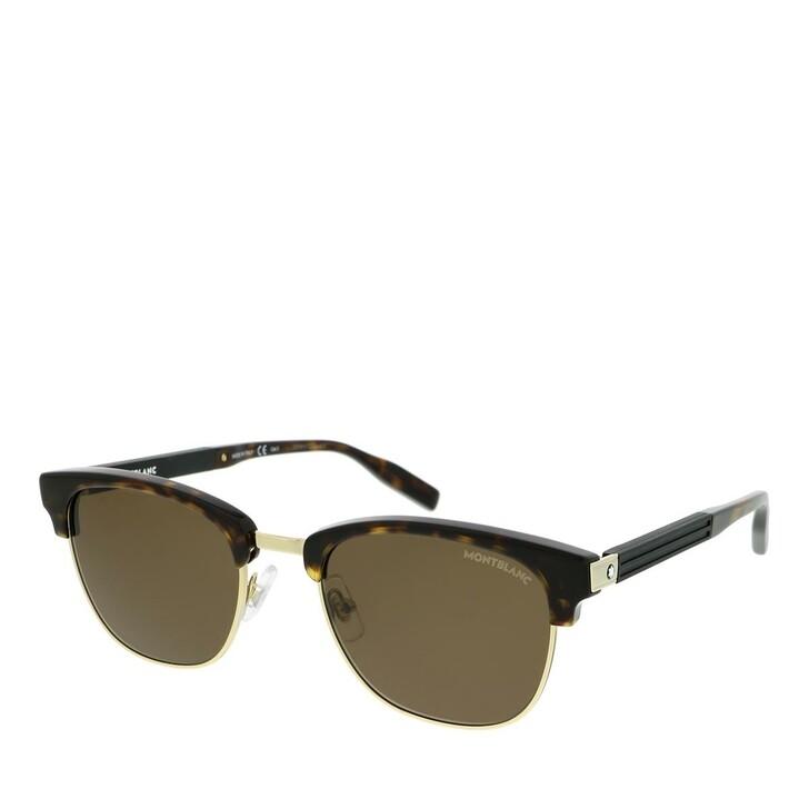Sonnenbrille, Montblanc, MB0164S-003 52 Sunglass MAN ACETATE HAVANA