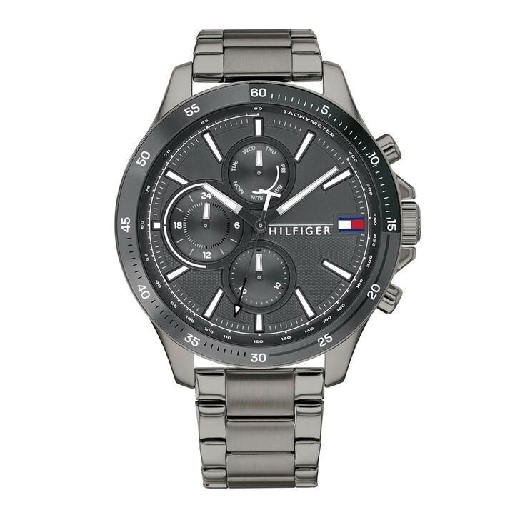 Uhr, Tommy Hilfiger, Men Multifunctional Watch Bank Grey