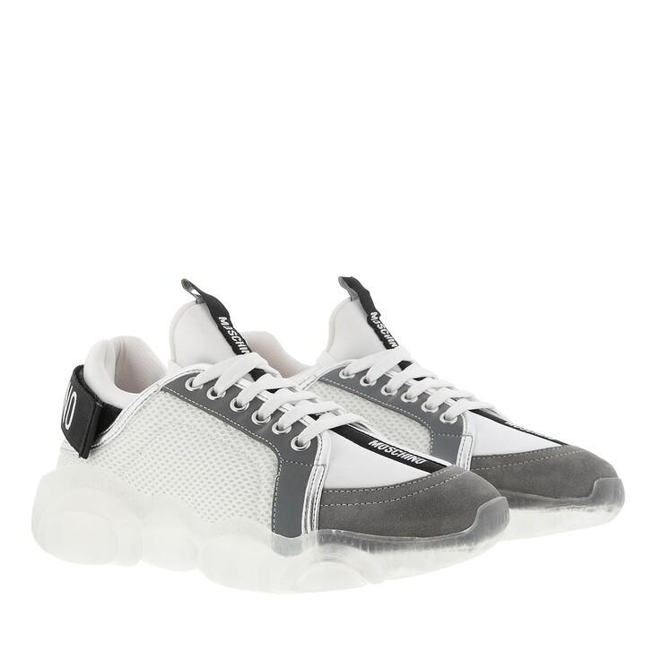 Schuh, Moschino, Sneakerd.Orso30 Mix  Bianco-Grigio