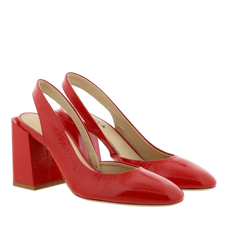 Schuh, Furla, Block Sling Back Heels T.80 Ruby