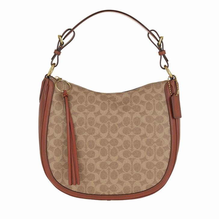Handtasche, Coach, Signature Sutton Satchel Bag Beige