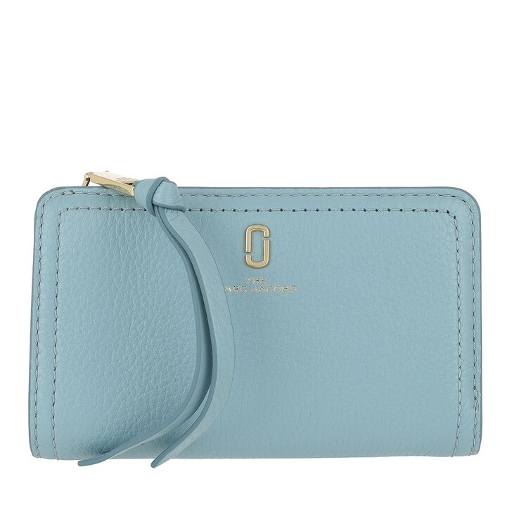 wallets, Marc Jacobs, Softshot Compact Wallet Silent Blue