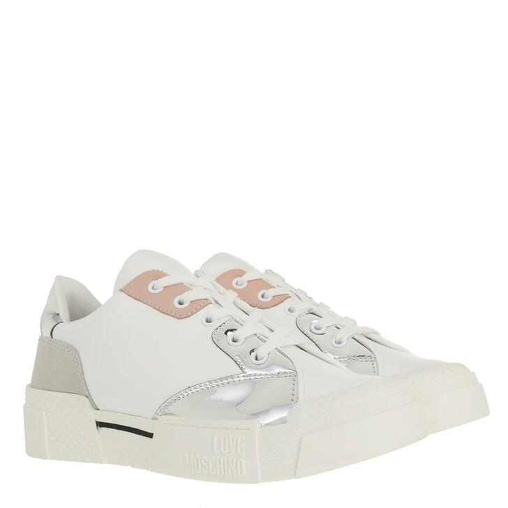 Schuh, Love Moschino, Sneaker Texture50 Vitello Bianco
