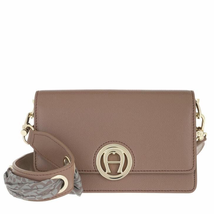 bags, AIGNER, Livia Crossbody Bag Mushroom Brown