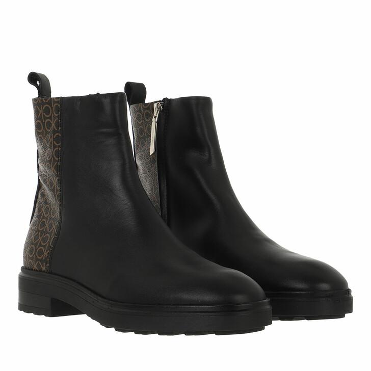 shoes, Calvin Klein, Cleat Ankle Boot Mono Mix Black/Brown Mono