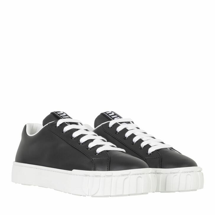 shoes, Miu Miu, Low Top Sneakers Leather Black