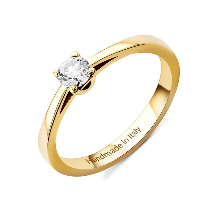 Ring, DIAMADA, 0.25ct Diamond Solitaire Ring  14KT Yellow Gold