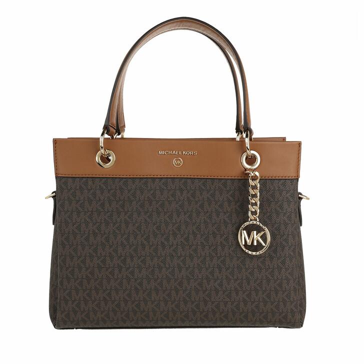 bags, MICHAEL Michael Kors, Medium Satchel Brown/Acorn