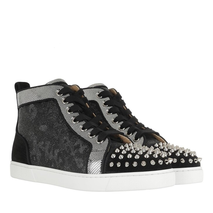 Schuh, Christian Louboutin, Lou Spikes Orlato High-Top Sneaker Version Black