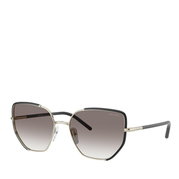 Sonnenbrille, Prada, METALL WOMEN SONNE BLACK/PALE GOLD
