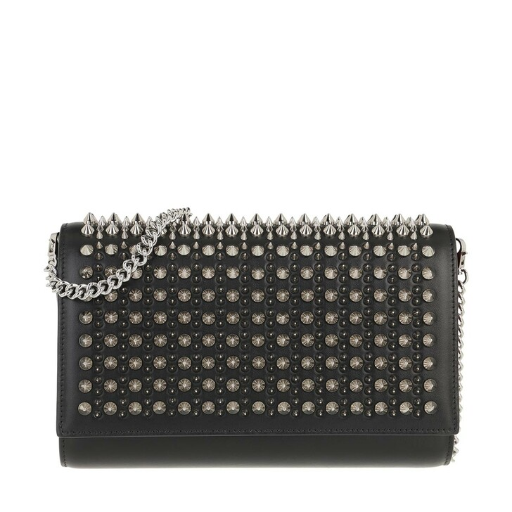 Handtasche, Christian Louboutin, Paloma Clutch Leather Black/Silver