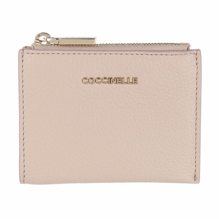 Geldbörse, Coccinelle, Document Holder Grainy Leather Powder Pink