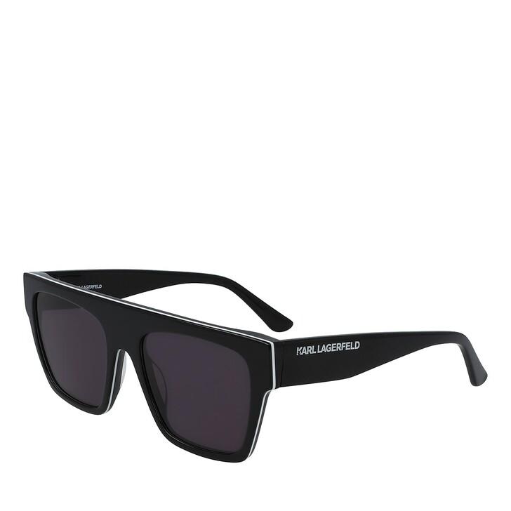 Sonnenbrille, Karl Lagerfeld, KL6035S BLACK/WHITE/BLACK