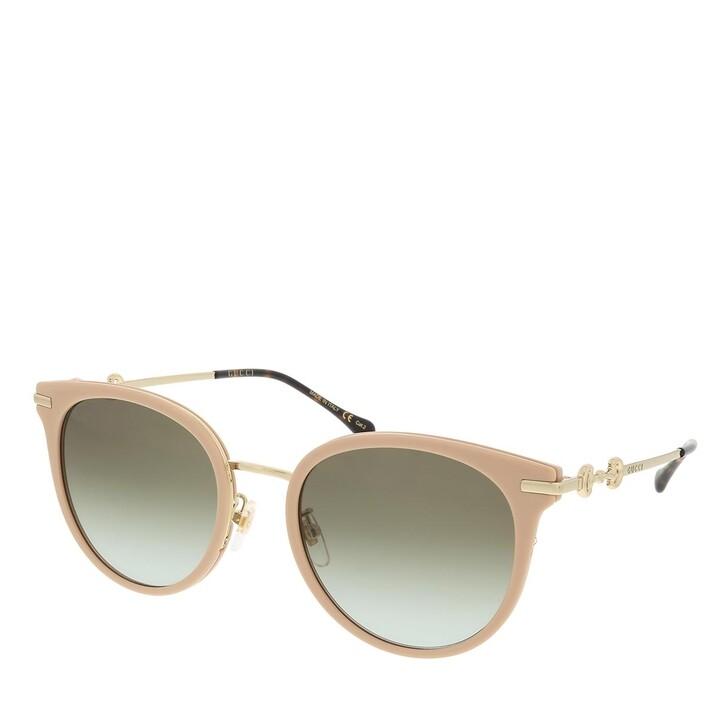 sunglasses, Gucci, GG1015SK-002 56 Sunglass Woman Injection Ivory-Gold-Green