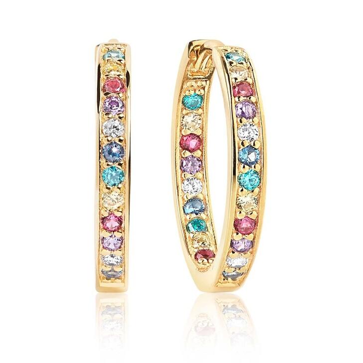Ohrring, Sif Jakobs Jewellery, Corte Earrings Multicoloured Zirconia 18K Gold Plated
