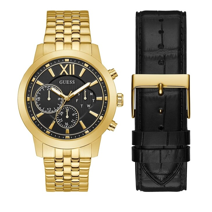 watches, Guess, MENS BOXED SETS Gold