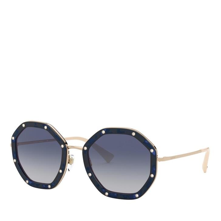 Sonnenbrille, Valentino, METALL WOMEN SONNE HAVANA BLUE
