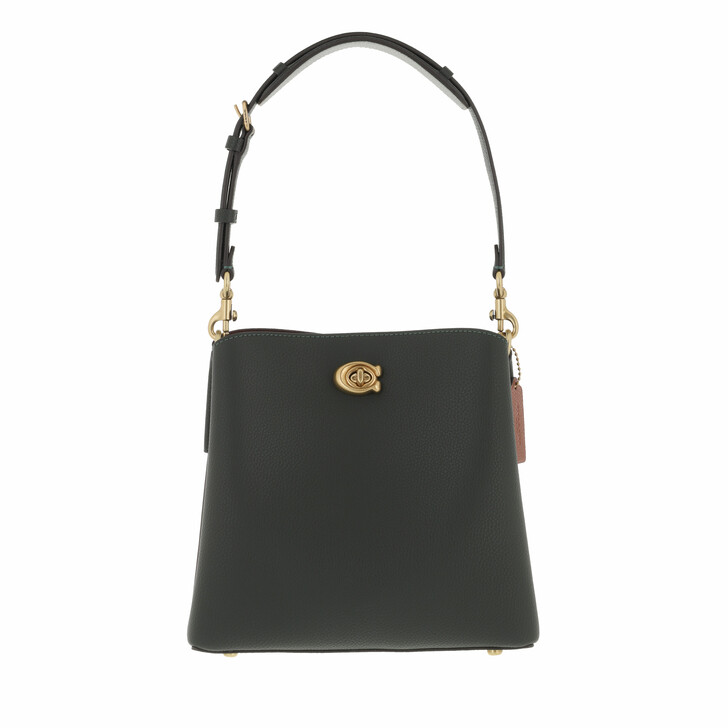 bags, Coach, Colorblock Leather Willow Bucket Amazon Green
