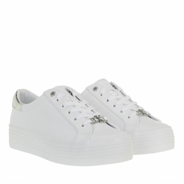Schuh, Calvin Klein, Vulcanized Flatform Sneakers Leather White