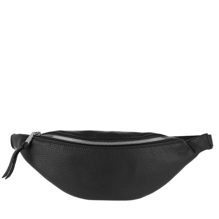 Handtasche, Abro, Beltbag Linna Black Nickel