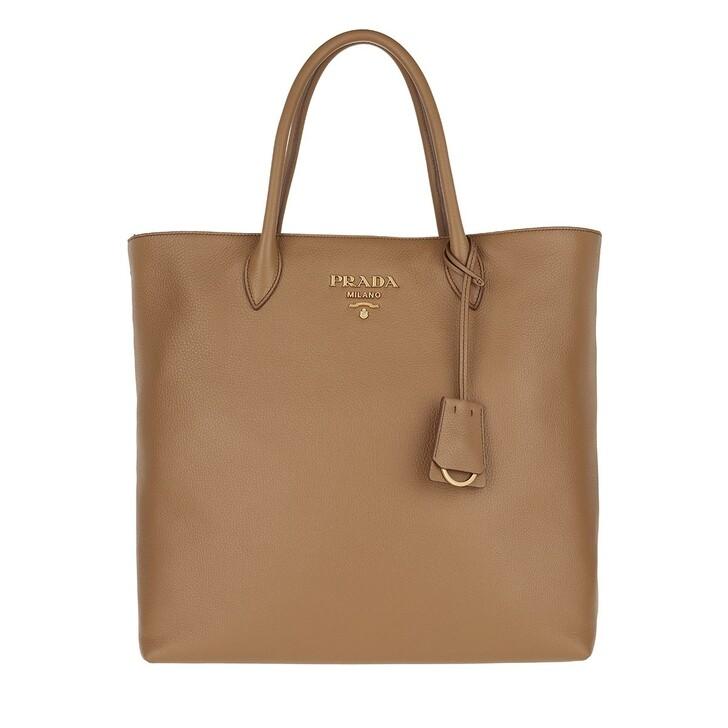 bags, Prada, Shopping Vitello Daino Caramel