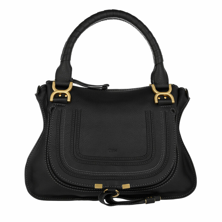 Handtasche, Chloé, Marcie Medium Shoulder Bag Black